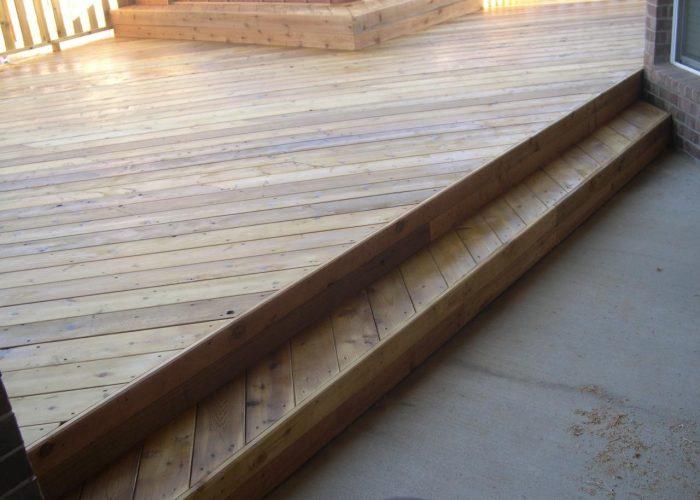 wooden deck design