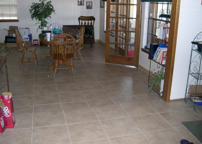 custom tile flooring installation