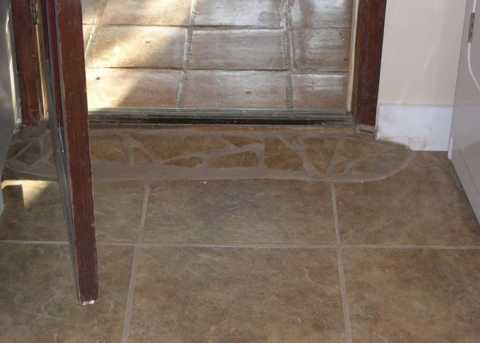 custom tile floor installation