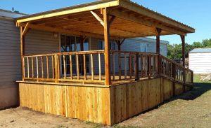 Custom deck build west texas