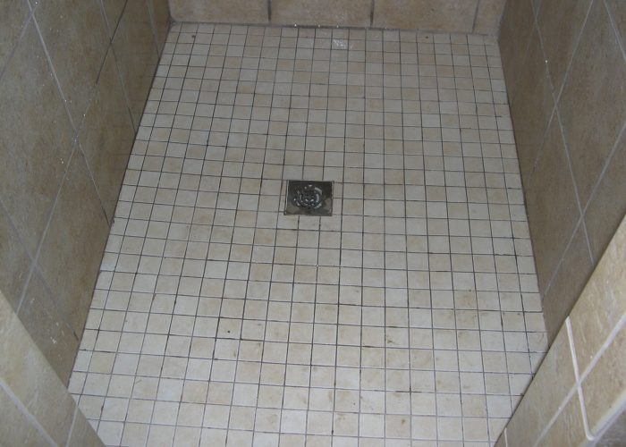 bathroom shower floor tile installation