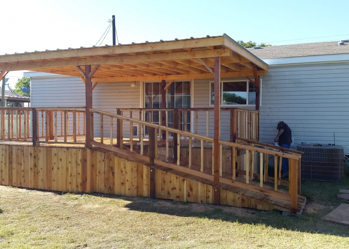 coleman tx wood deck and cover
