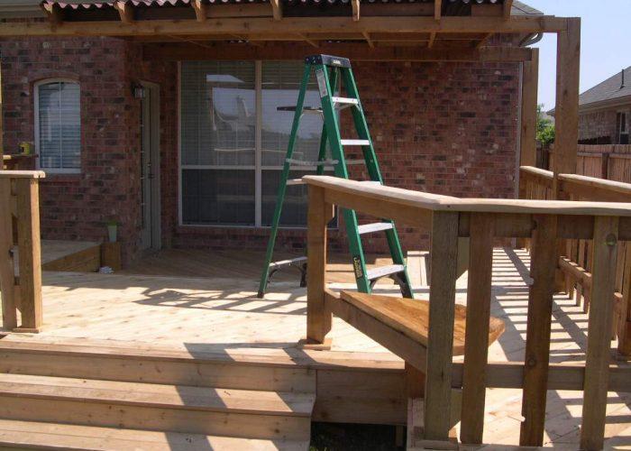 building a custom wooden deck