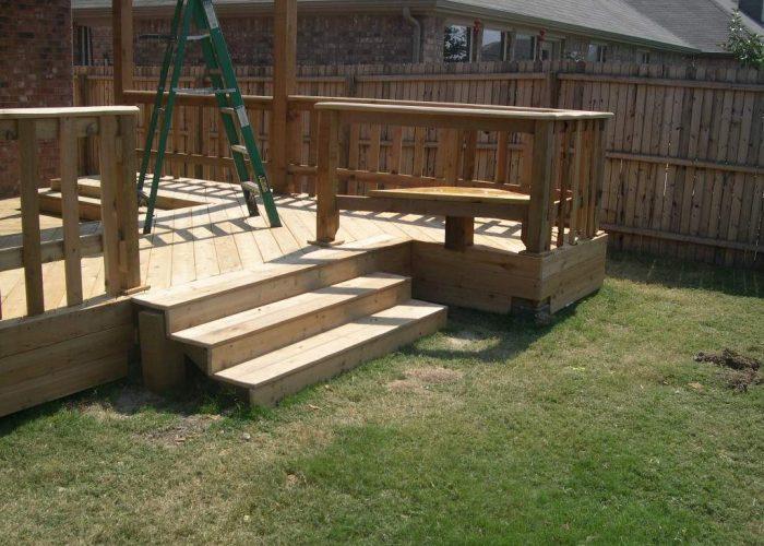 building a custom wood deck
