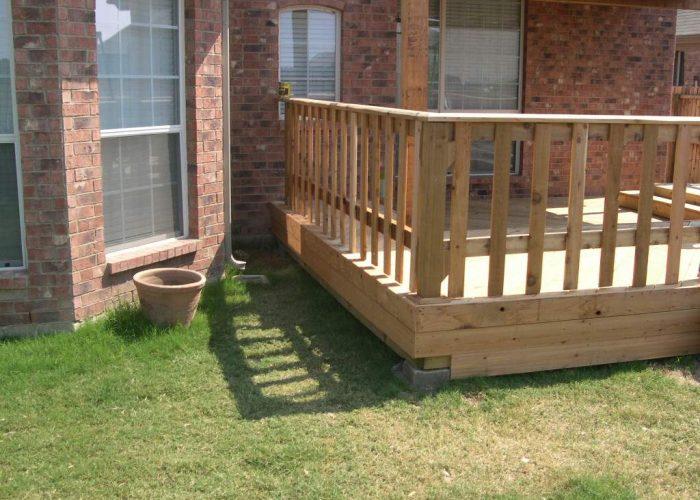 wooden deck build in abilene tx