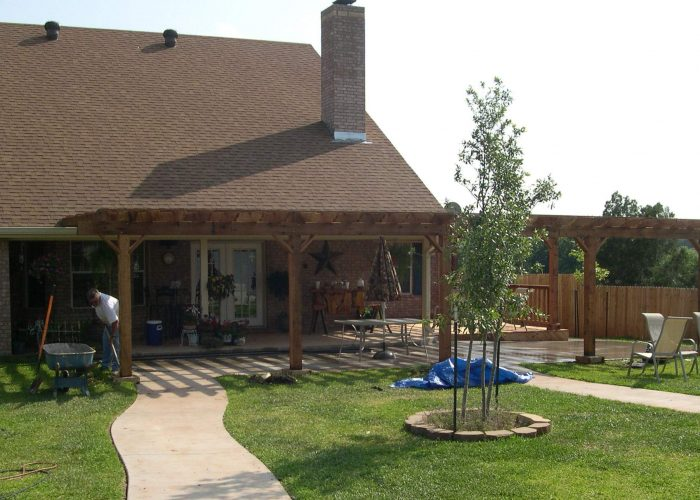 wooden pergola porch cover