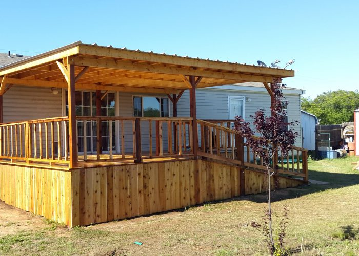 wooden deck and covering coleman tx