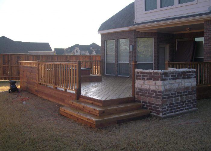 deck construction contractor work