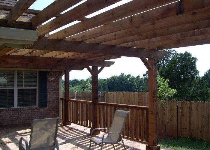 pergola covering for a porch