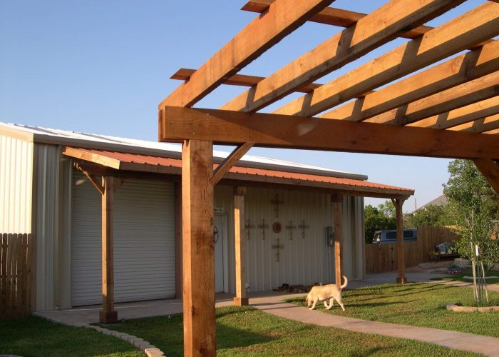 wooden pergola and porch cover