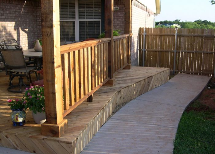 custom deck covering and porch