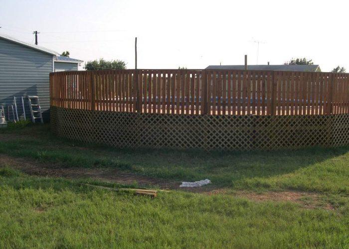 build deck around aboveground pool