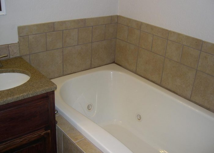 custom tile bath surround