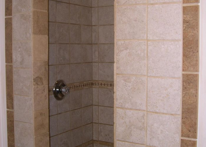 custom tiling shower surround installation